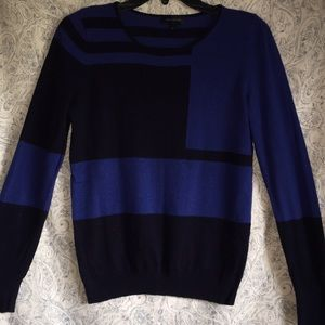 The Limited Royal Blue and Navy Sweater
